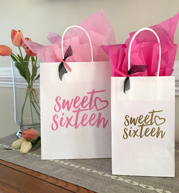 Sweet Sixteen Birthday 16th Birthday Party Favors Custom