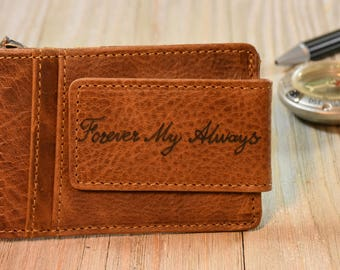 Handmade Money Clip Wallet Leather Money Clip Wallet Minimalist Wallet Clip Mens Wallet Slim Wallet Valentines Gift Fast Shipping