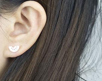 Lou plated silver watermelon fruit was trendy jewelry earrings