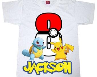 pokemon birthday shirt BOY or GIRL shirt