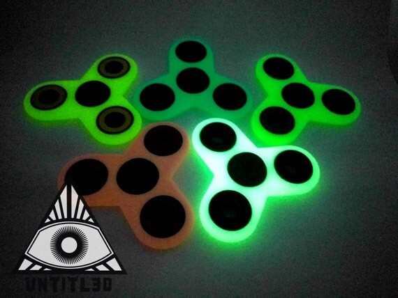 The Dark Target Spinner Fidget Glow In Colors Tri EDC