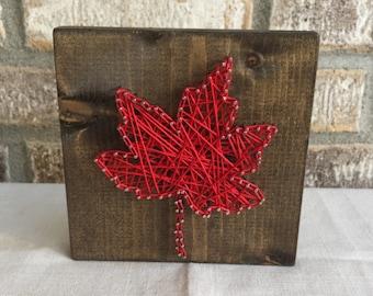 Leaf String Art, Fall String Art, Fall Decor, Thanksgiving Decor