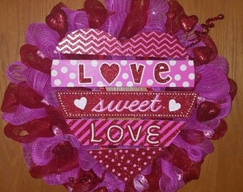 Love, Sweet Love - Valentine's Wreath