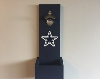 Dallas Cowboys Hanging Bottle Opener / Wall Mounted Bottle Opener / Cowboys Gift / Man Cave