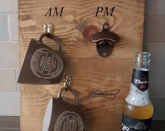 How To Tell The Time Am/Pm Mug Holder & Bottle Opener.