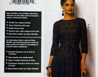 Vogue 8943  Free Shipping  Miss Dress  Claire Shaeffer Custom Couture  Size 8 to 16  Uncut