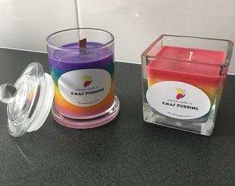 Unicorn/rainbow soy candle