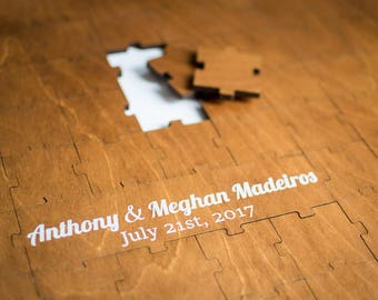 Personalised Wood Wedding Guest Puzzle/ Wedding guest book/ Wedding puzzle/ Alternative guestbook puzzle/Puzzle guest book/Custom guest book