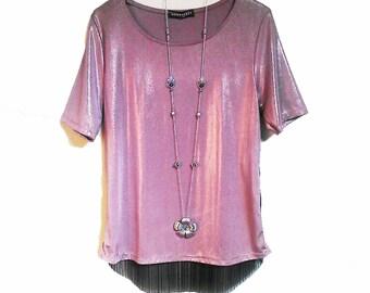 Necklace rose lila, flower, flower lila, mauve necklace sautoir necklace, long necklace fuchsia, silver rose necklace, flower, pink collar necklace