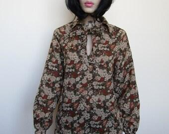 Floral vintage Shirt/ Blouse - 14/16
