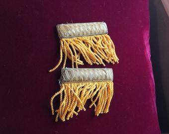 Antique Bullion Metal Metallic Thread Appliqué Millinery