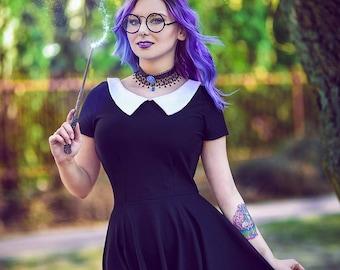 Dress boarding school gothic collar doll