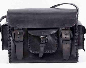 Black Chorro Leather Camera Bag