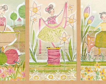 The Makers Happy Beginnings panel by Cori Dantini for Blend fabrics