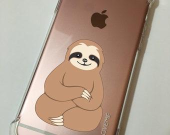 Smiling Sloth iPhone 5 5s SE 6 6s 7 Plus Samsung S7 S8 Case