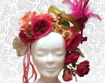 """Headdress """"Carnival"""" flower head dress"""
