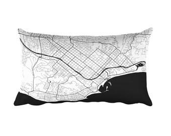 Santa Barbara Pillow, Santa Barbara Decor, Santa Barbara Cushion, Santa Barbara Throw Pillow, Santa Barbara CA Map, Santa Barbara Art, Gift