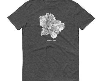 Budapest Shirt, Budapest, Hungary, Budapest TShirt, Budapest Gift, Budapest Tee, Budapest Map, Hungary Shirt, Hungary Map, Budapest Art