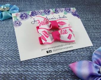 Bow Tie Hair Clip - Set of 2 - Barbie