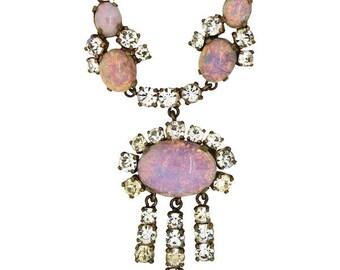 Edwardian Faux Opal Necklace