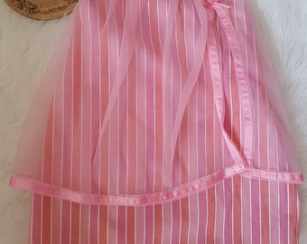 Pink stripe dress size 1