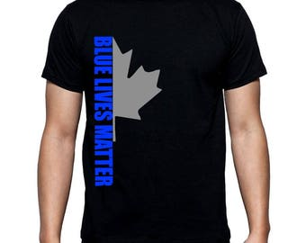 Black sweater unisex Canada blue lives matter liquidation