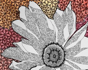 Blossiming Digital Illustration Print