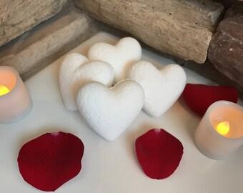 Bath Bombs - Bath Fizzy - Fizzing Bath Bomb - Bath Balls - Fizzy Bath Bomb - Heart - Heart Shaped Bath Bomb