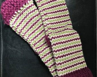 Handmade knit socks