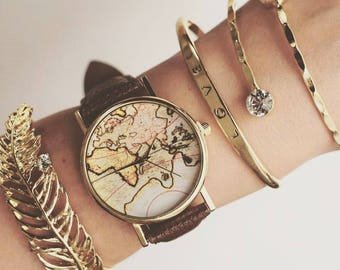 World map watch world map watch ladies watch