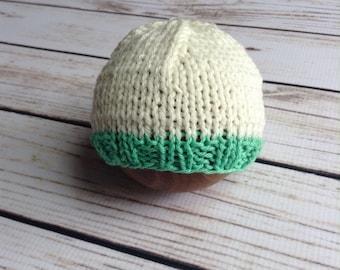 Spring Beanie, Newborn Beanie, Knit Wool Hat, Knit Hat, Wool Hat, Newborn Prop Hat, Baby Boy, Baby Girl, Newborn Hat