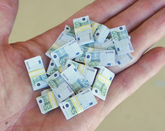 1/6 Scale Miniature Play Money 100 Euro Notes