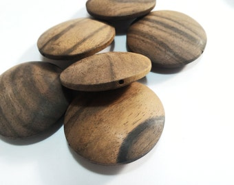 Round wood beads-streaked dark or light wood