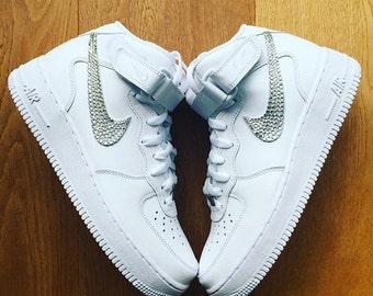 Nike Air Force One mit Swarovski Crystals