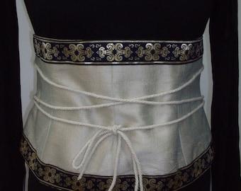Bustier, corset waist training iridescent Silk shantung