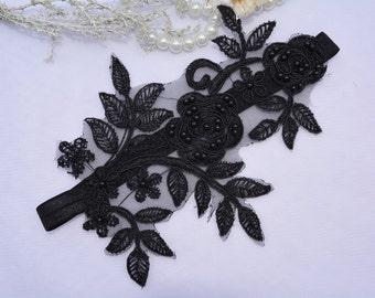 Black Lingerie Garter Bridal Wedding Set