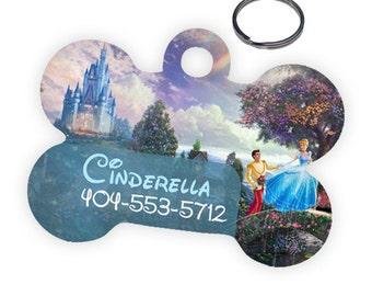 Disney Cinderella Custom Personalized Pet ID Tag for Dog