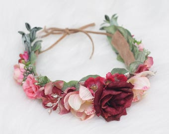 Sweetheart Crown, flower crown, photography prop