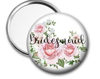 Roses Bridesmaid 58 mm 2.5 inch Pocket Mirror