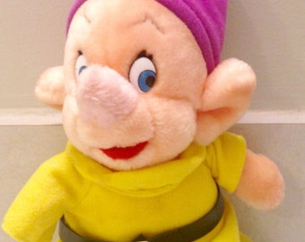 Vintage Dopey/Disneyland plush Dopey/1993/Dopey of Snow White and The Seven Dwarves/Canasa MFR-103/Disney decor/Disney collectible/CLEARANCE
