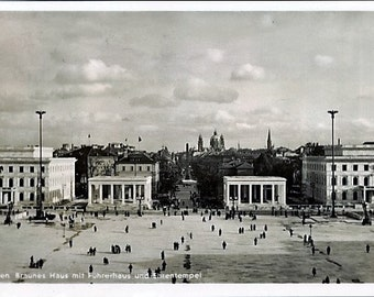 1939 Stamp, Munich Art Celebration Day Real Photo Postcard, #160, July 14-16th