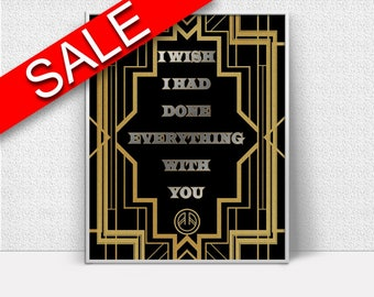 Wall Art Deco Digital Print Gatsby Poster Art Deco Wall Art Print Gatsby  Wall Decor Deco