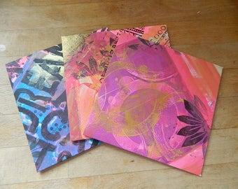 Handmade Gelli Printed Envelopes