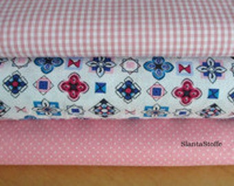 Fabric package in pink, art. 221