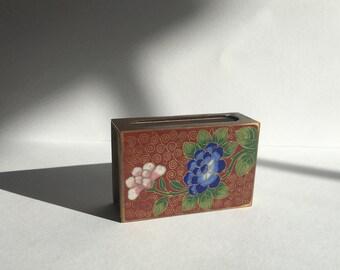 Decorative Floral Cloisonne matchbox