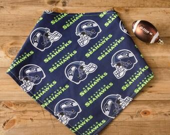 LOB- Reversible Seattle Seahawks Tie-On Dog Bandana