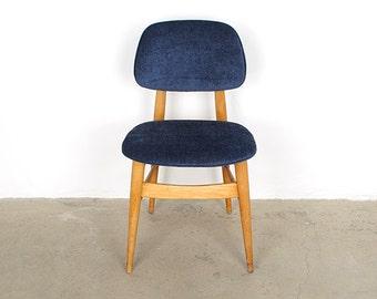 Mid Century Modern Blue Chair