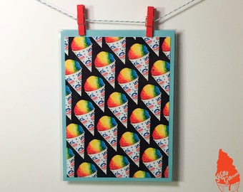 Snow Cone Pattern Greeting Card