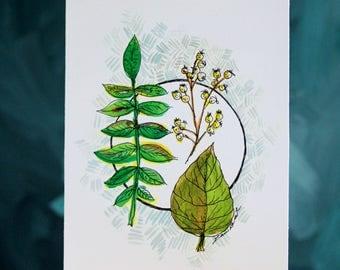 Botanical Print #2  5x7