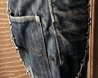 Lee Cooper Vintage Metal Long Bones Wallet Chain